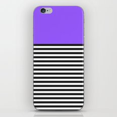 STRIPE COLORBLOCK {PURPLE} iPhone & iPod Skin