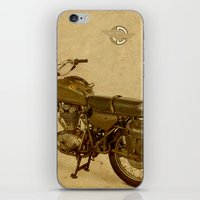 ducati iPhone & iPod Skins featuring Ducati vintage background by Larsson Stevensem