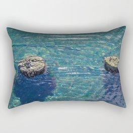 Old Wharf Posts Rectangular Pillow
