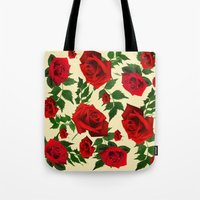 roses Tote Bags featuring roses  by mark ashkenazi
