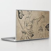 justice league Laptop & iPad Skins featuring Justice by Maithili Jha