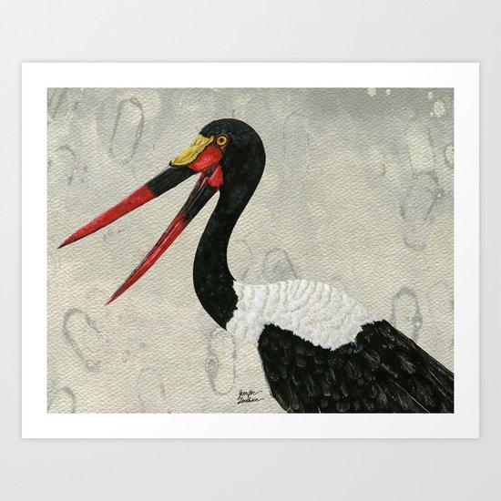 Saddle-billed Stork Quinn 2 Art Print