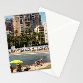 Torrevieja beach in Summer Stationery Cards