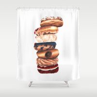 donuts Shower Curtains featuring Donuts! by Sam Luotonen
