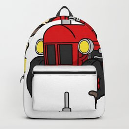 Tractor Farmer Gift Shirt Farmer Trecker Cool Backpack