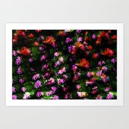 Floral Camoflague Art Print