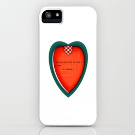 I carry your heart iPhone Case