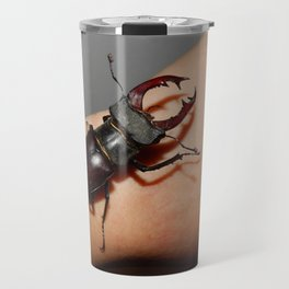 Large beetle stag beetle insects Travel Mug