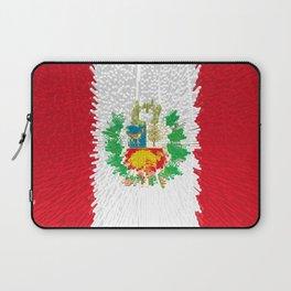 Extruded flag of Peru Laptop Sleeve