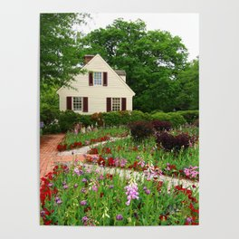 Cottage Garden - Colonial Williamsburg Poster