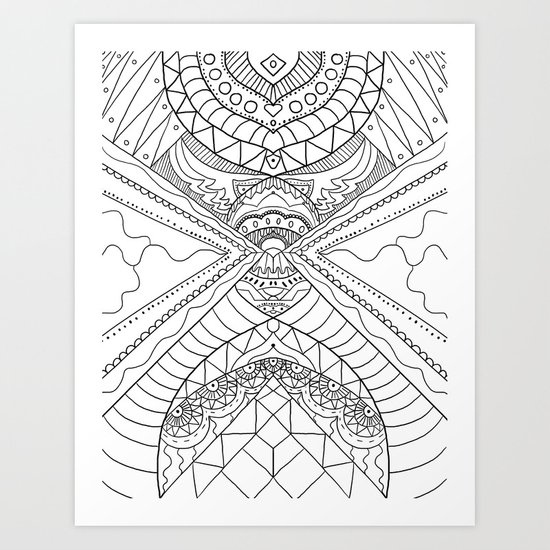 Native Pattern Art Print