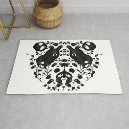 Rorschach Panda Rug