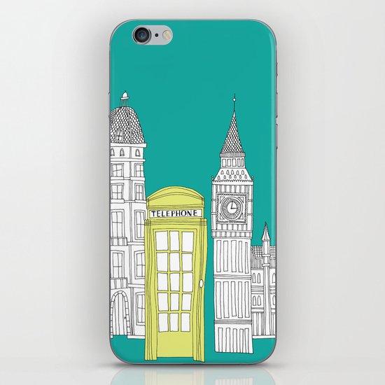 London - City prints // Red Telephone Box iPhone & iPod Skin