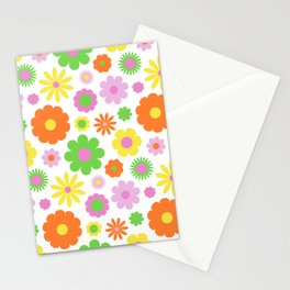 Vintage Daisy Crazy Floral Stationery Cards