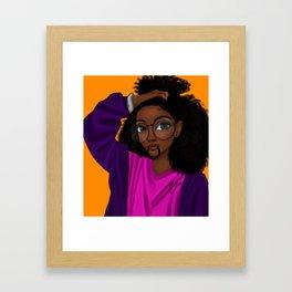 hair up Framed Art Print