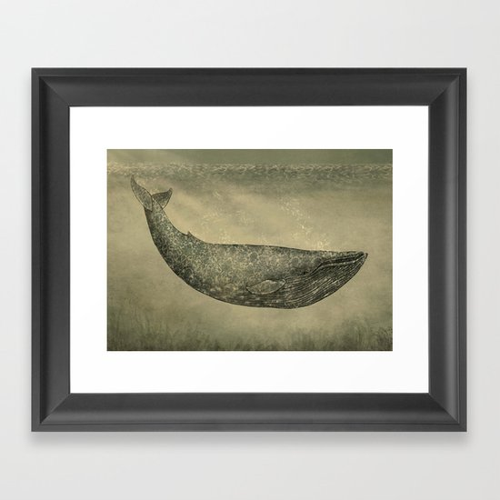Damask Whale  Framed Art Print