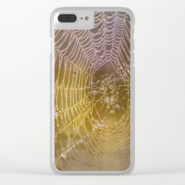 Double Spider Web Clear iPhone Case