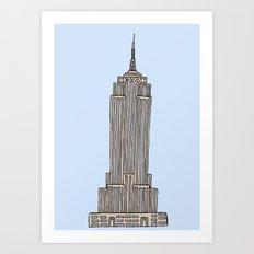 Empire State Bldg. NY Art Print
