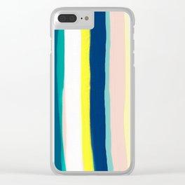 Vertical stripes Clear iPhone Case