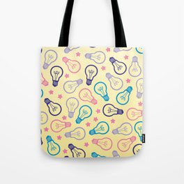 Cute Pastels Light bulb Pattern Tote Bag