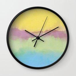 Modern Pastel Pallet Abstract Design Wall Clock