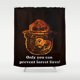 Smokey the Bear Shower Curtain