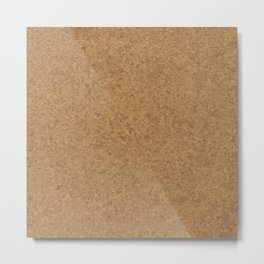 Cork Board Background Metal Print
