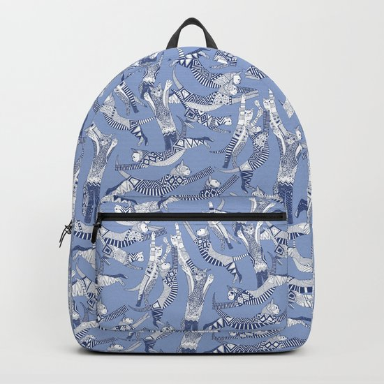 cat party blue Backpack
