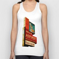 pizza Tank Tops featuring Pizza by Hazel Bellhop