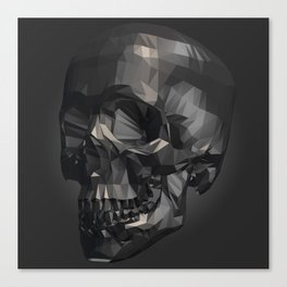 Skull in Low Poly Style Canvas Print