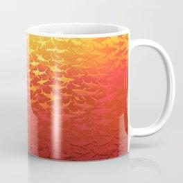 Sharks At Sunset Coffee Mug