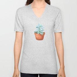 Succulent in the pot Unisex V-Neck