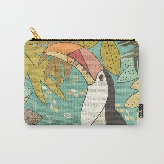 Forest Toucan  Carry-All Pouch
