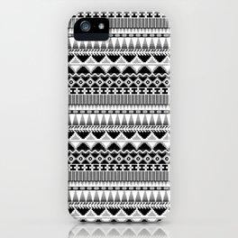 Farmhouse Kilim in Back, White + Gray iPhone Case