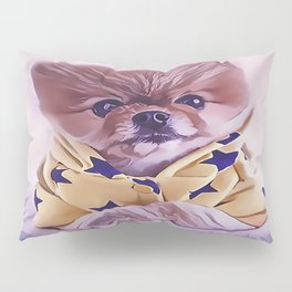 Pomeranian Wearing Pajamas Pillow Sham