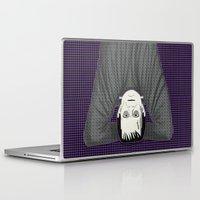prometheus Laptop & iPad Skins featuring Frankenstein head stand by Aquamarine Studio