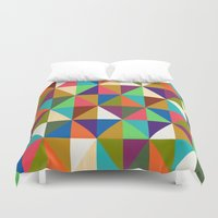 woody allen Duvet Covers featuring Woody by Bianca Green