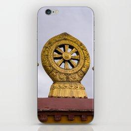 Tibet: Rooftop Dharma wheel iPhone Skin