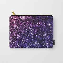 Purple Ombre Glitter Carry-All Pouch