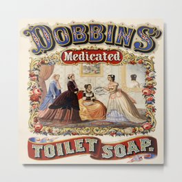 Vintage poster - Dobbins Medicated Toilet Soap Metal Print