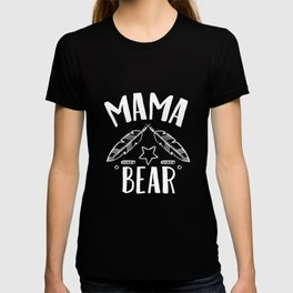 Mama Bear With Feathers Star - Funny Mothers Day T-shirt