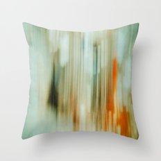 retro blur Throw Pillow