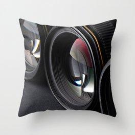 Photo lenses Throw Pillow