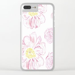 Abstract Flowers #society6 #buyart Clear iPhone Case