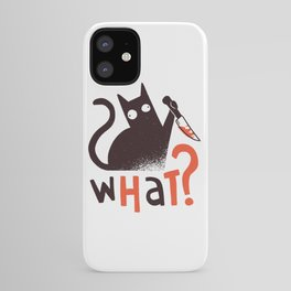 Murder Cat Funny  iPhone Case