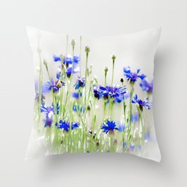 So Many Flowers. So Little Time. Throw Pillow