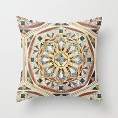 Mandala - Geometric marble Throw Pillow