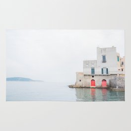 Ischia Island in Italy Sea View Rug