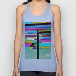 COLLAGE DIGITAL COLORFUL Unisex Tank Top