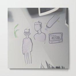 Prince Doodles, on the wall. Metal Print